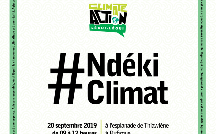 """Rufisque : """"Un Ndéki climat"""" pour inviter les uns et les autres à lutter contre le changement climatique."""
