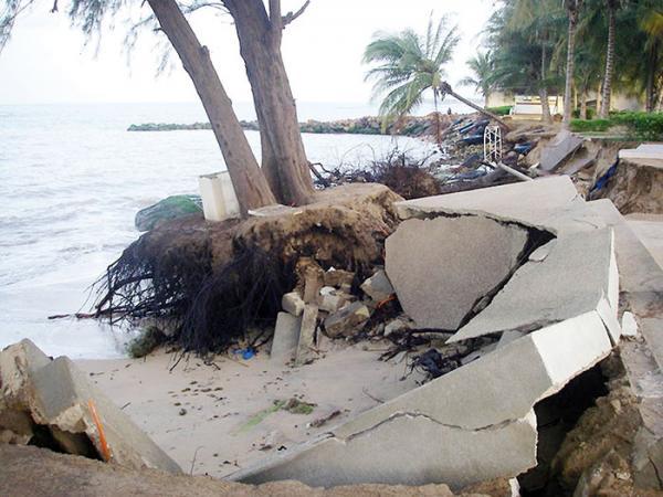 Erosion Cotière à Saly